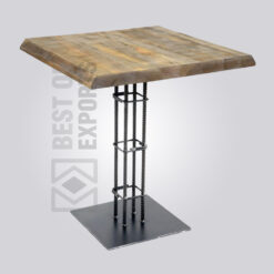 Square Wooden Top Pedestal Dining Table