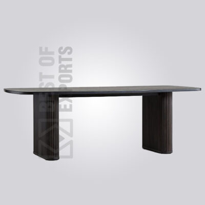 Stylish Black Wooden Dining Table