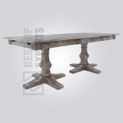 Vintage Pedestal Wooden Dining Table