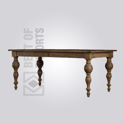 Vintage Wooden Farmhouse Dining Table