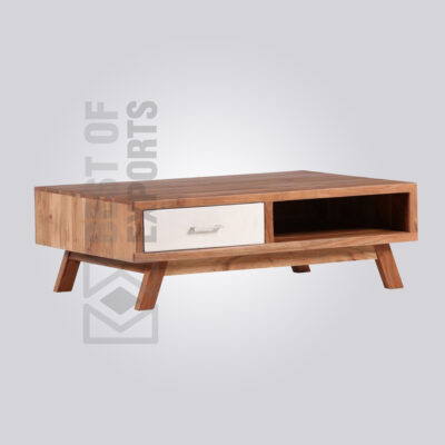 Wooden Coffee Table with Drawer