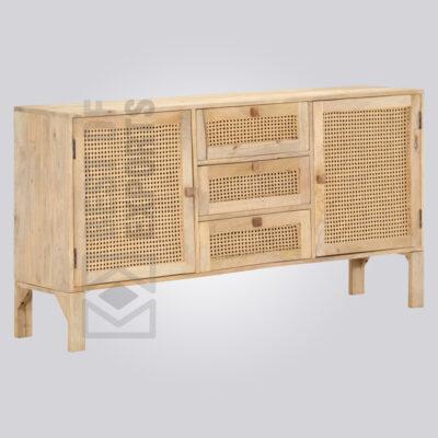 Wooden Natural Cane Sideboard