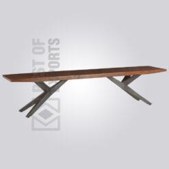 3D Flying X Metal Bench