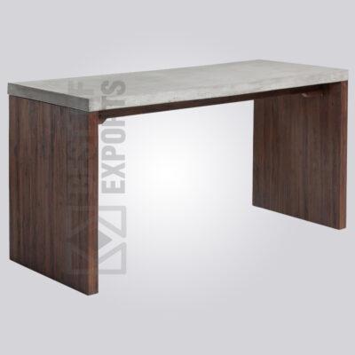 Concrete Wooden Desk