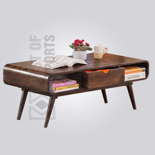 Contemporary Wooden Storage Coffee Table