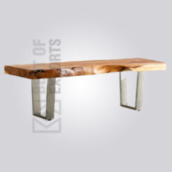 Industrial Live Edge Bench