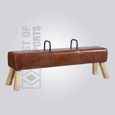 Leather Horse Bench