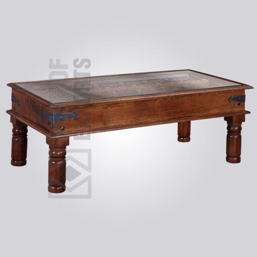 Old Style Wooden Coffee Table