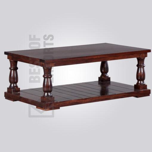 Pillar Wooden Coffee Table