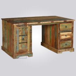 Reclaimed Wood Storage Desk